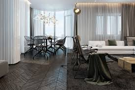 Home Modern Interior Design Three Luxurious Apartments With Dark Modern Interiors
