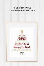 christmas tree scripture printable yellow bliss road