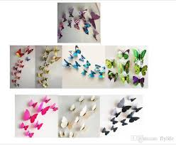 3D Butterfly Wall Stickers Decor Art Decorations Green Yellow Blue