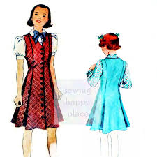 mccall 9093 girls blouse and princess jumper 1930s pattern pre