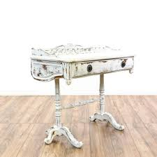 white shabby chic console writing desk shabby chic console table