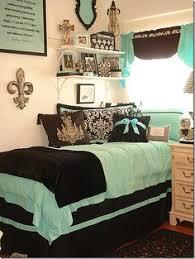 Tiffany Blue Comforter Sets Tiffany Blue U0026 Black Damask Designer Dorm Bedding Set Dorms