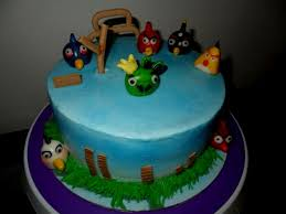angry birds theme birthday cake decorating of party