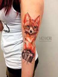 the 25 best geometric watercolor tattoo ideas on pinterest