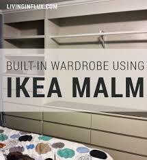 built in wardrobe using ikea malm bedroom ideas pinterest