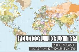 Guam World Map Political World Vector Map Illustrations Creative Market
