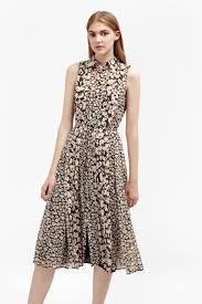 bloomsbury daisy sleeveless shirt dress woman hidden inseason