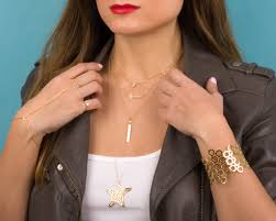 layered necklace sideways cross necklace neicea