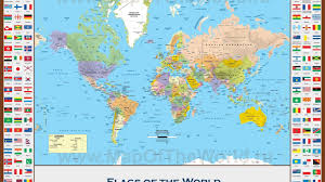 World Map Posters by 1366x768 Educational Flags World Map Maps Flag World Map