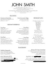 useful photography skills resume for outstanding cover letter