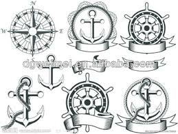 boat anchor compass tribal skin safe tattoo sticker buy skin