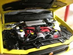 subaru autoart subaru impreza wrx type r gt turbo sti yellow autoart diecast