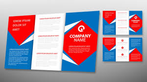 illustrator tutorial tri fold brochure design template youtube