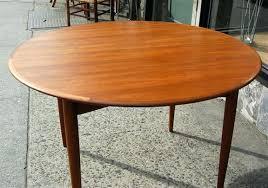 round teak dining table teak pedestal dining table vintage danish modern round teak dining