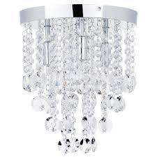 4 Ceiling Lights Montego Semi Flush Ceiling Light Crystal Effect 4 Light Chrome
