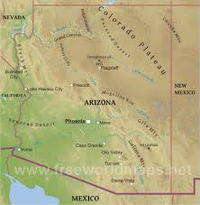 Map Of Arizona And California by Physical Map Of Arizona