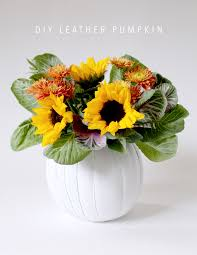 make a leather pumpkin vase awesome centerpiece for thanksgiving