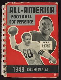 1949 all american football conference record manual aafc otto