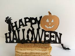 Pumpkin Halloween Cakes by Happy Halloween Cake Toppers Halloween Decorations Happy