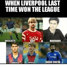 Diego Costa Meme - when liverpool last time won the league ancelotti mourinho klopp