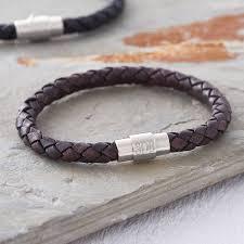 engraved bracelets men u0027s personalised clasp plaited leather bracelet hurleyburley