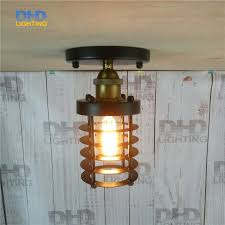 cylindrical ceiling light fixture free shipping retro indoor lighting vintage black iron cylindrical