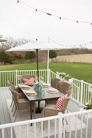 Backyard Dining by Backyard Dining Space Decor In Gray And Red The Home Depot Blog