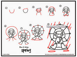 how to draw spring savvy teaching tips