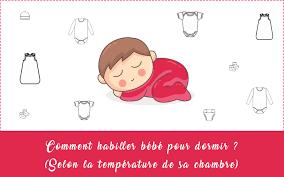 temperature chambre bébé comment habiller bébé la nuit selon la température de sa chambre