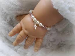 customized baby jewelry christening baptism bracelet baby gifts baby bracelets newborn