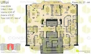 5 bedroom floor plans acqualina floor plans