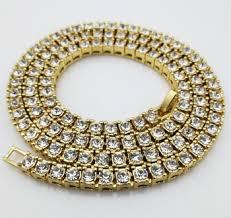 hip necklace chain images Tennis glue diamond cuban link chain necklace hip pop style jpg