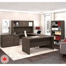 Bestar U Shaped Desk Bestar Logan 3 Pc Workstation Lateral File And Bookcase
