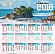 Kalender 2018 Hari Raya Puasa Bali Kalender 2018 Indonesia Cdr File Corel Draw Design Corel