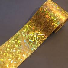 3 inch grosgrain ribbon wholesale gold cracked glass holographic grosgrain ribbon 75mm cheer bow