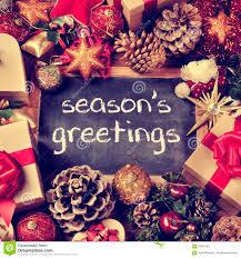 text seasons greetings gifts and christmas ornaments retro eff
