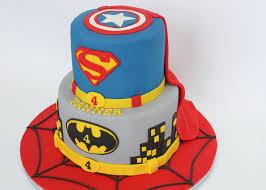 superhero birthday cake u2014 village cakecraft