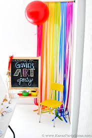 Kara U0027s Party Ideas Colorful Art Party With Tons Of Ideas Free