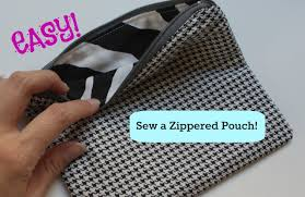 how to sew a basic zippered pouch youtube