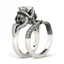 skull wedding rings skull rings skull wedding engagement rings jeulia jewelry