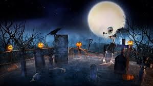 scary halloween sweet and scary halloween themed digital art