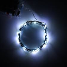 2m 20leds cool white soft wire led string light 3 aa battery