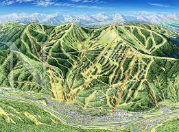 Colorado Ski Map by Vail Colorado In Summer James Niehues Map Artist Ski Maps