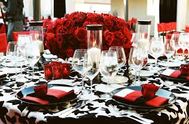 red black and white wedding color schemes wedding themes