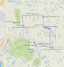 Walking Map Boston by Clay Bricks Dump Park