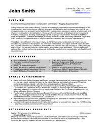 Laborer Resume Sample by Construction Superintendent Jobs Description Xpertresumes Com