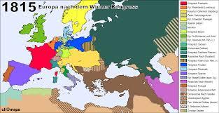 Europe 1815 Map by Europa Nach Dem Wiener Kongress 1815 History Pinterest