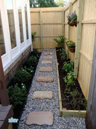 Small Narrow Backyard Ideas I A Pathway On Both Sides Of My House This Gives Me