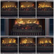 penelope ii lite cherry media center electric fireplace wall