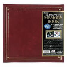 photo album 12x12 e z load postbound album 12x12 burgundy 2349210 hsn